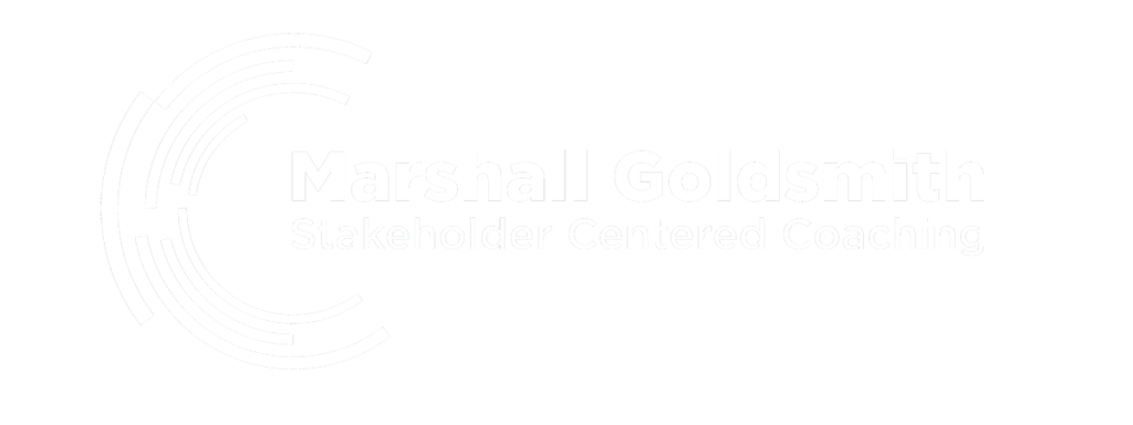 Marshall Goldsmith logo white