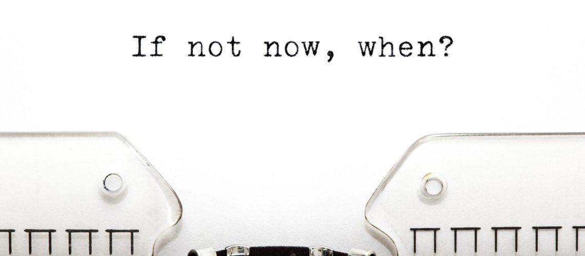 Pepijn van Amstel fragt If not now, when? ob nicht jetzt, wann?